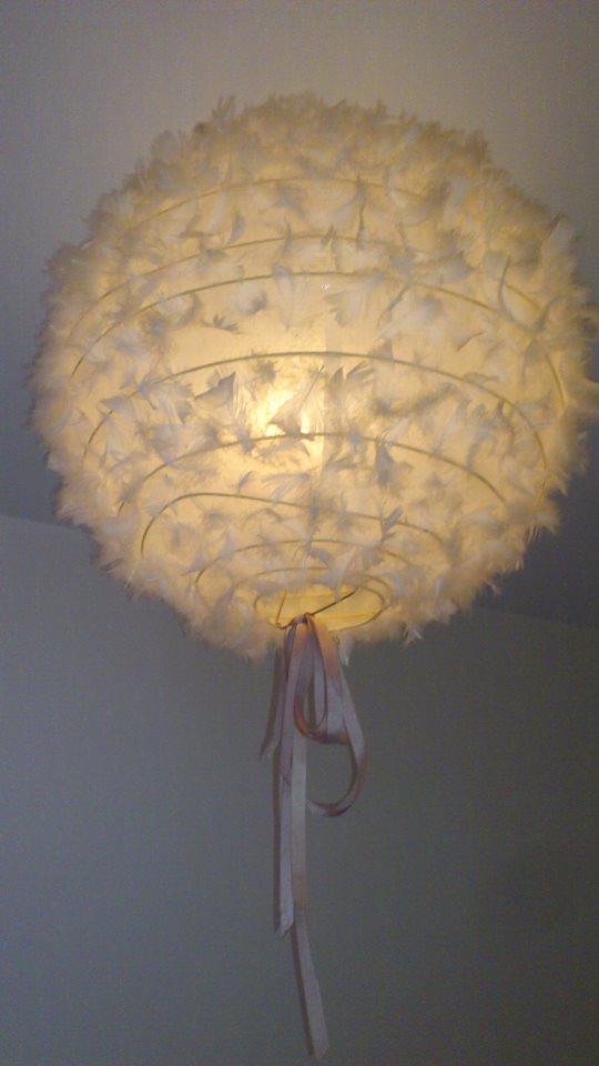 Mon Truc En Plume Customiser Une Lampe Boule Mlle Pois