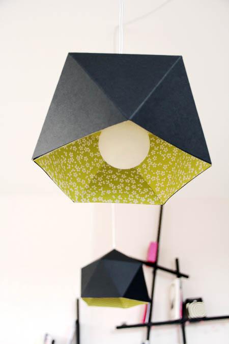 Tutoriel lampe en papier mlle pois - Lampe en papier ...
